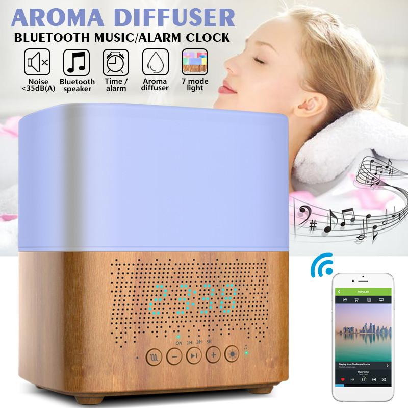 <strong><font color='0F2FFF'>Oil Aroma Diffuser with Bluetooth Speaker and Alarm Clock</font></strong>